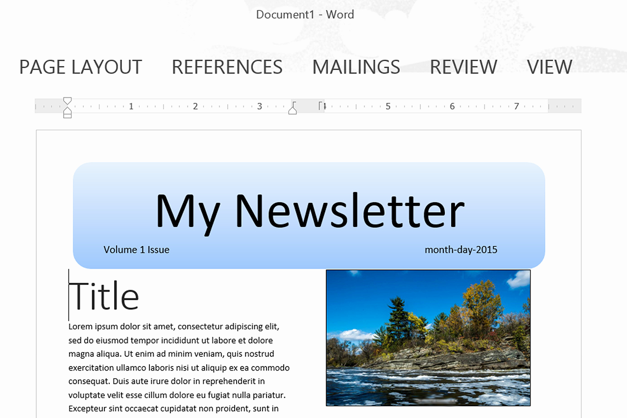 Newsletter Template for Word Inspirational How to Make A Newsletter Template In Word