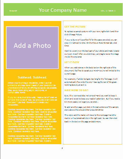Newsletter Template for Word Inspirational Newsletter Template Microsoft Word Templates
