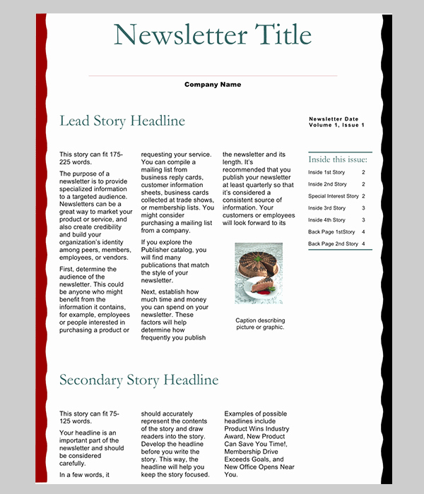 Newsletter Template for Word Luxury 7 Newsletter Word Templates Word Excel Pdf Templates