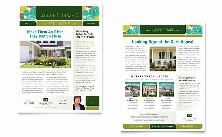 Newsletter Template for Word Luxury Real Estate Newsletter Template Word & Publisher