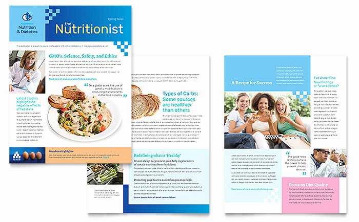 Newsletter Template for Word New Dietitian Newsletter Template Word & Publisher