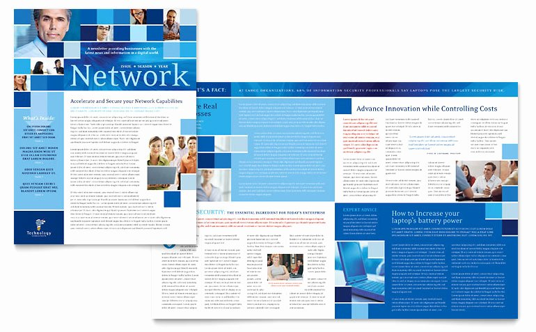 Newsletter Template for Word Unique Technology Consulting & It Newsletter Template Word