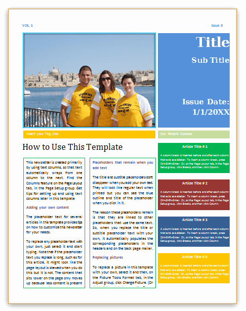 Newsletter Template Microsoft Word Best Of Save Word Templates