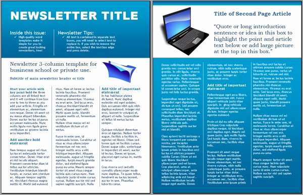 Newsletter Template Microsoft Word Luxury Free Business Newsletter Templates for Microsoft Word
