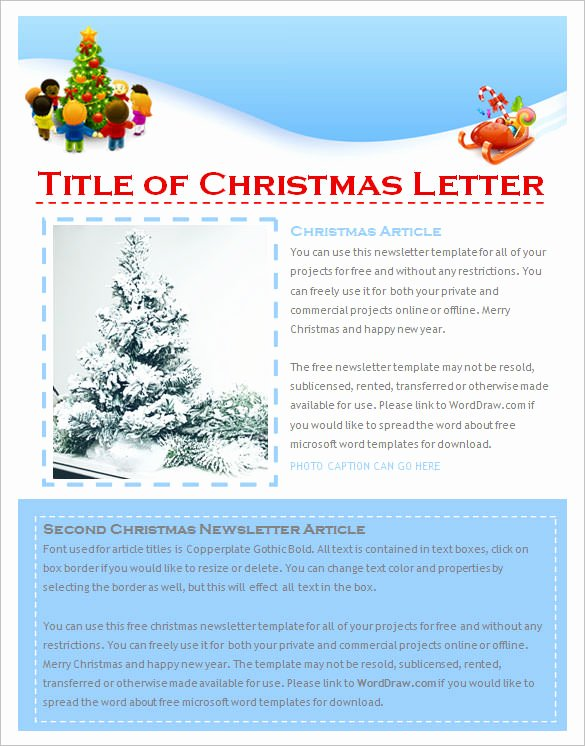 Newsletter Template Microsoft Word New 27 Christmas Newsletter Templates Free Psd Eps Ai
