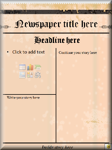 Newspaper Template for Microsoft Word Awesome Literacy