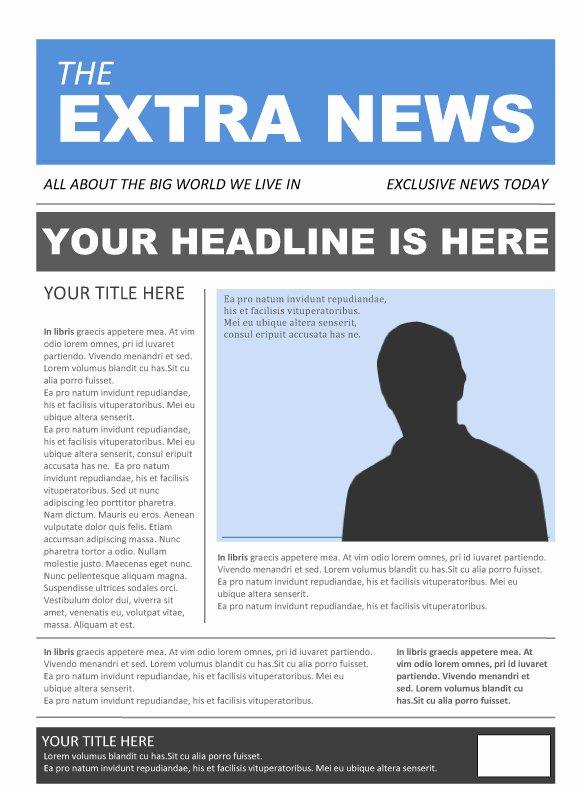 Newspaper Template for Microsoft Word Beautiful Free Newspaper Template Pack for Word Perfect for School