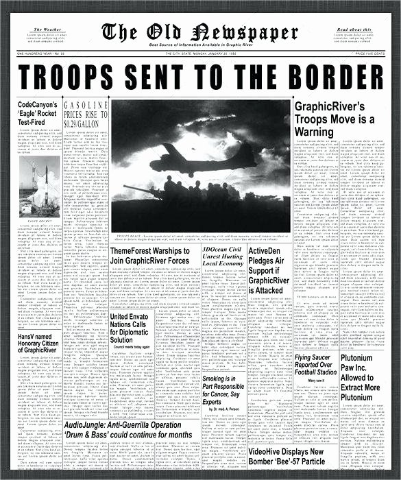 Newspaper Template for Microsoft Word Beautiful Sample Newspaper Front Page 5 Documents In Word with