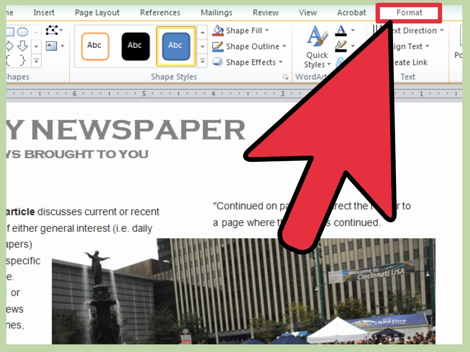 Newspaper Template for Microsoft Word Best Of 3 Ways to Make A Newspaper On Microsoft Word Wikihow