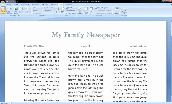 Newspaper Template for Microsoft Word Best Of How to Make A Newspaper On Microsoft Word