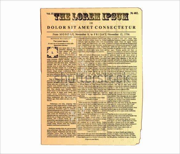 Newspaper Template for Microsoft Word Elegant 20 Old Newspaper Templates Psd Jpg