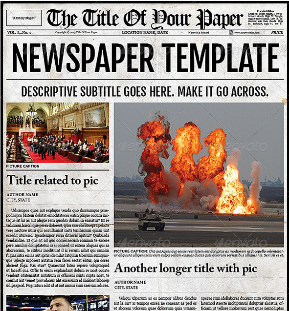 Newspaper Template for Microsoft Word Elegant Free Newspaper Template