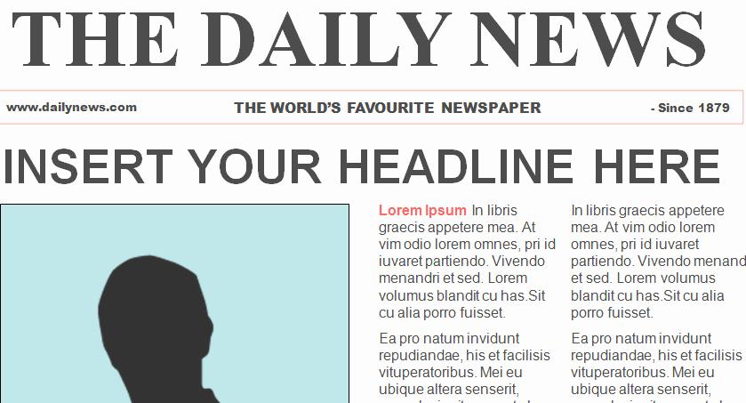 Newspaper Template for Microsoft Word Elegant Free Newspaper Template
