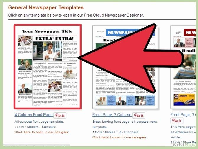 Newspaper Template for Microsoft Word Elegant How to Make A Newspaper On Microsoft Word Wikihow
