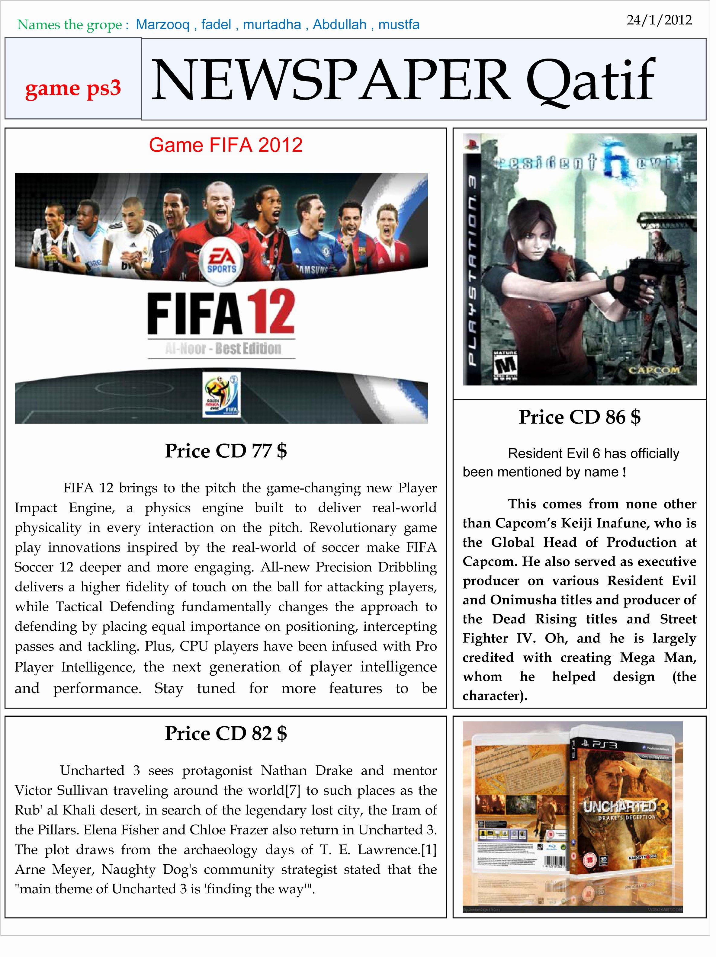 Newspaper Template for Microsoft Word Elegant Newspaper Qatif