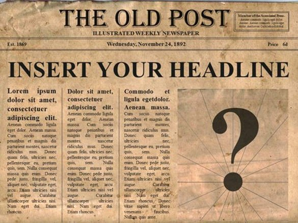 Newspaper Template for Microsoft Word Fresh 14 Old Newspaper Templates Free Sample Example format