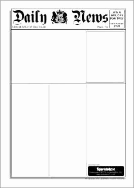 Newspaper Template for Microsoft Word Fresh 9 Newspaper Templates Word Excel Pdf formats