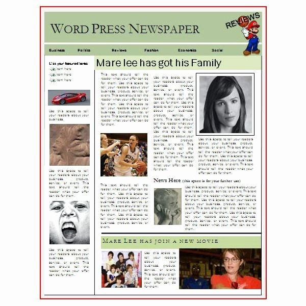 Newspaper Template for Microsoft Word Fresh Newspaper Layout Templates Excellent sources to Help You