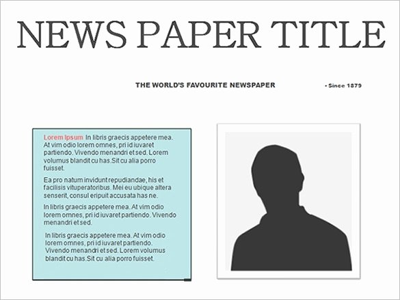 Newspaper Template for Microsoft Word Fresh Newspaper Template