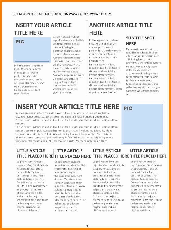 Newspaper Template for Microsoft Word Inspirational 6 Editorial Template for Microsoft Word