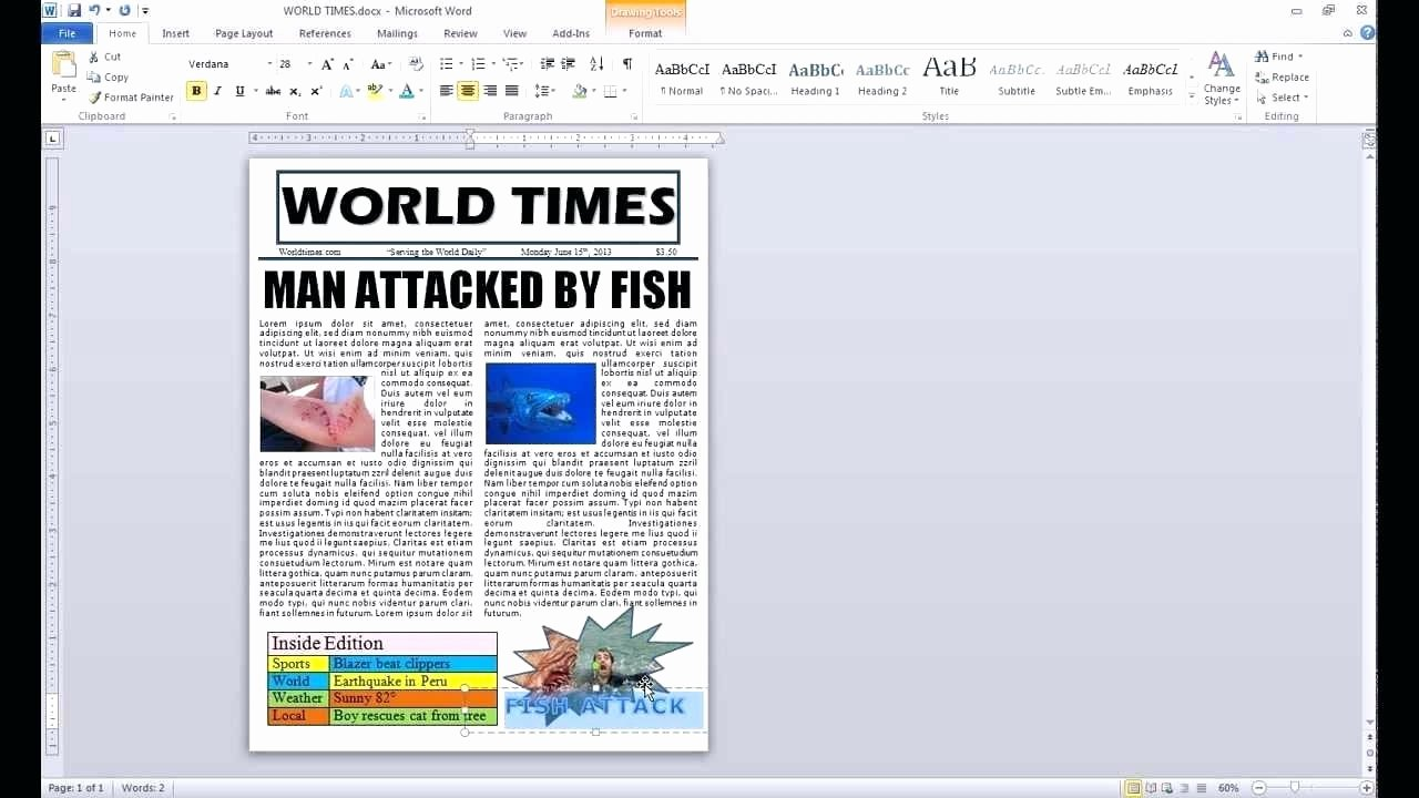 Newspaper Template for Microsoft Word Luxury Blank Newspaper Template Microsoft Word