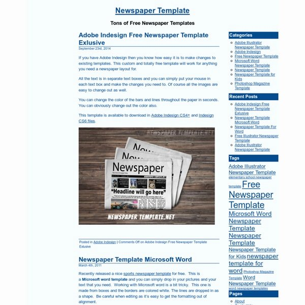 Newspaper Template for Microsoft Word Luxury Blog Archives Helpertheme