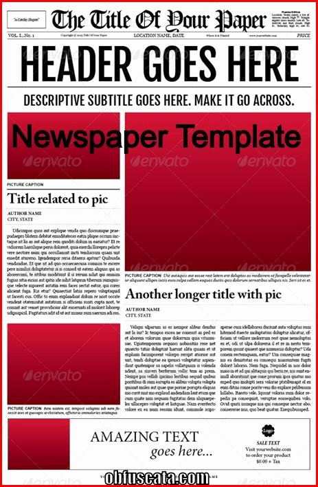 Newspaper Template for Microsoft Word New Points to Note In A Newspaper Template