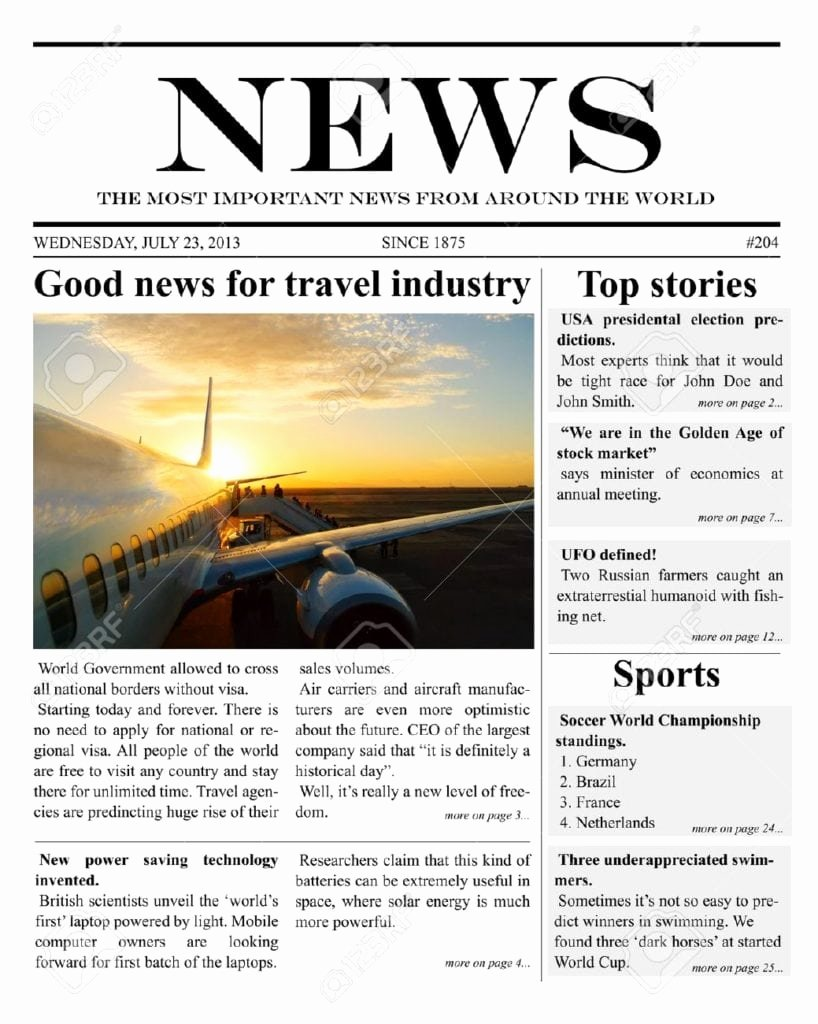 Newspaper Template for Microsoft Word Unique 9 Newspaper Templates Word Excel Pdf formats