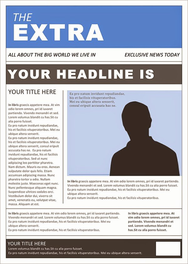 Newspaper Template for Microsoft Word Unique Best Newspaper Templates Free Download