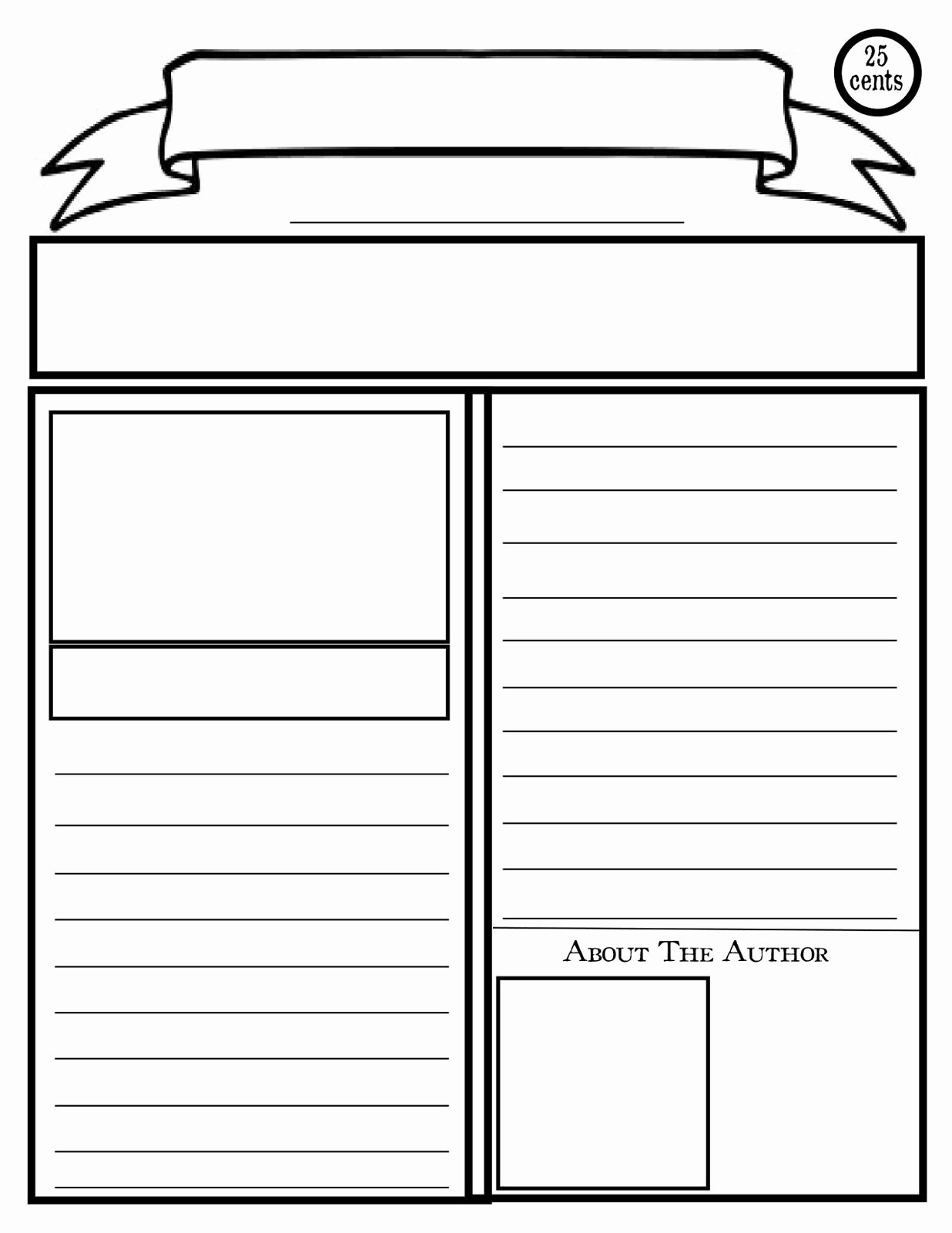 Newspaper Template for Microsoft Word Unique Blank Newspaper Template for Kids Printable