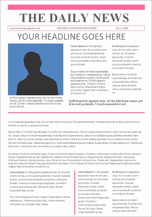 Newspaper Template for Microsoft Word Unique Newspaper Template 19 Download Free Documents In Pdf