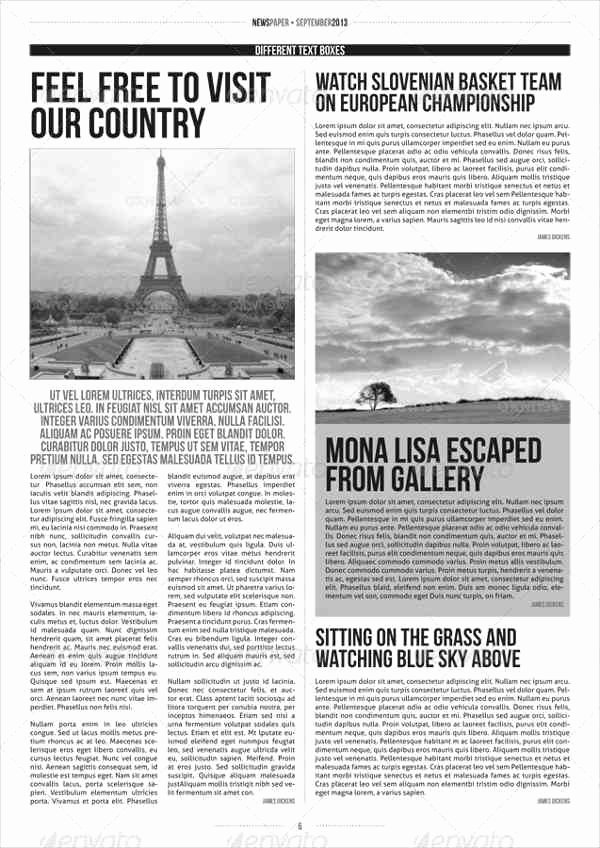 Newspaper Template Indesign Free Awesome 52 Printable Newspaper Templates Psd Apple Pages