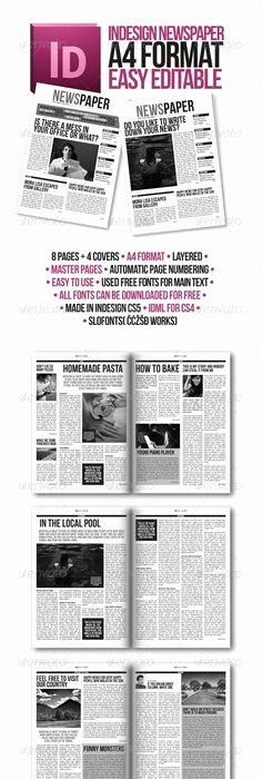 Newspaper Template Indesign Free Awesome Old Style Newspaper Template