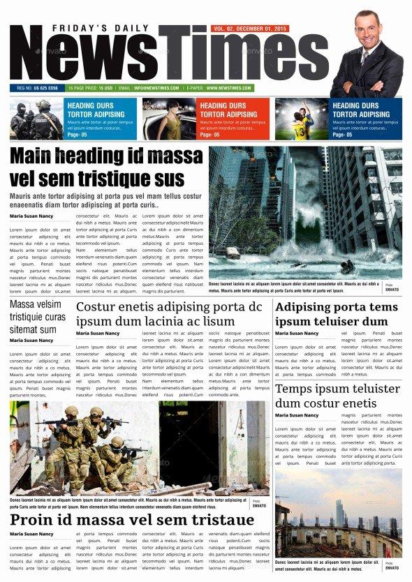 Newspaper Template Indesign Free Beautiful 35 Best Newspaper Templates In Indesign and Psd formats