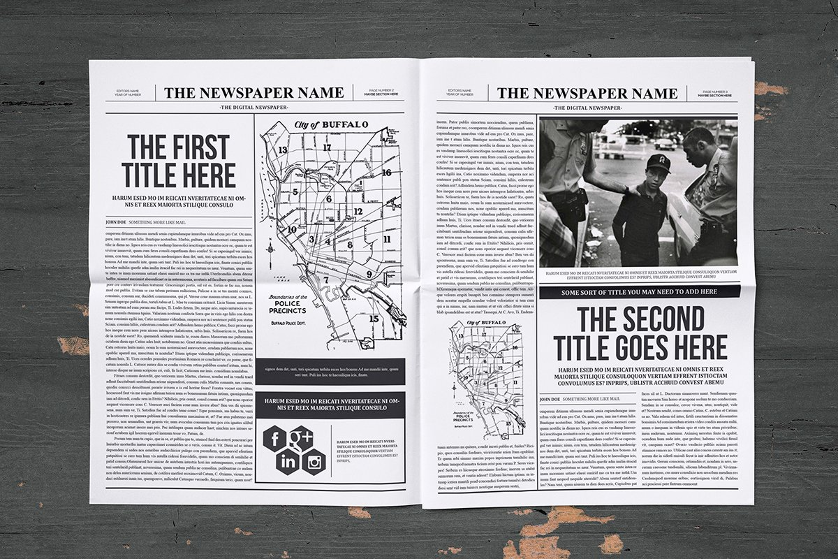 Newspaper Template Indesign Free Beautiful Classy Newspaper Indesign Template On Behance