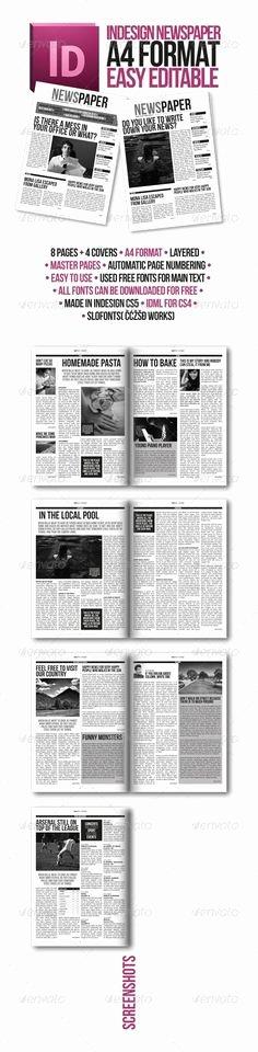 Newspaper Template Indesign Free Beautiful Newspaper Template for Adobe Indesign Cs6