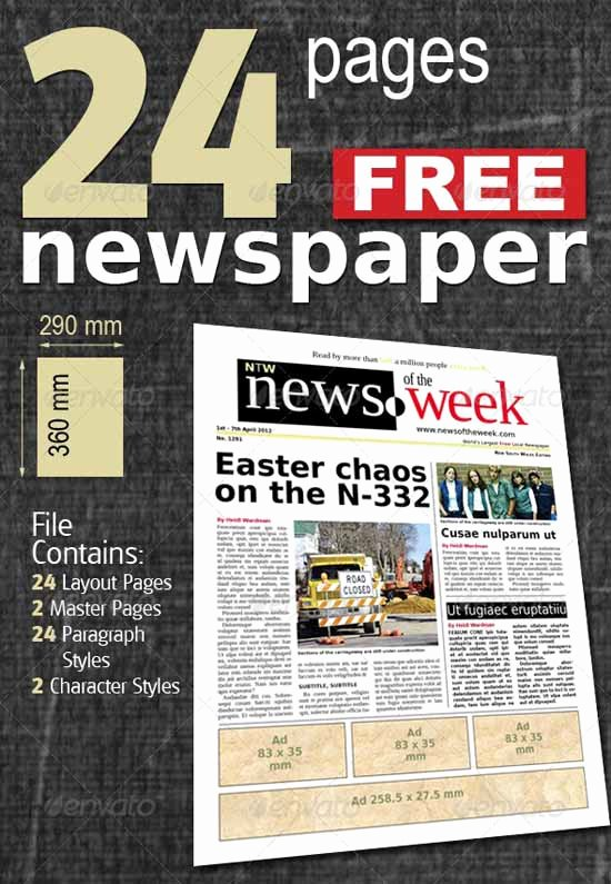 Newspaper Template Indesign Free Best Of 9 Best Of Indesign Newspaper Template Free