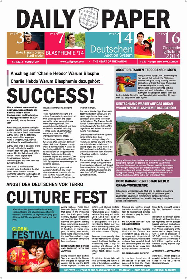 Newspaper Template Indesign Free Best Of Dailypaper Newspaper Template On Behance