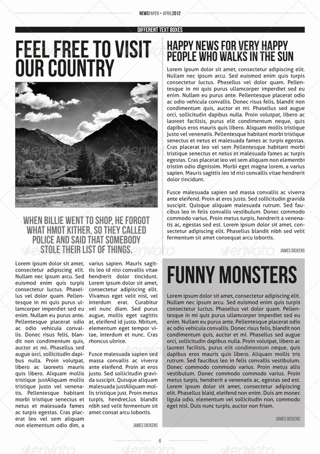 Newspaper Template Indesign Free Fresh Indesign Modern Newspaper Magazine Template A4 by Zigazi83