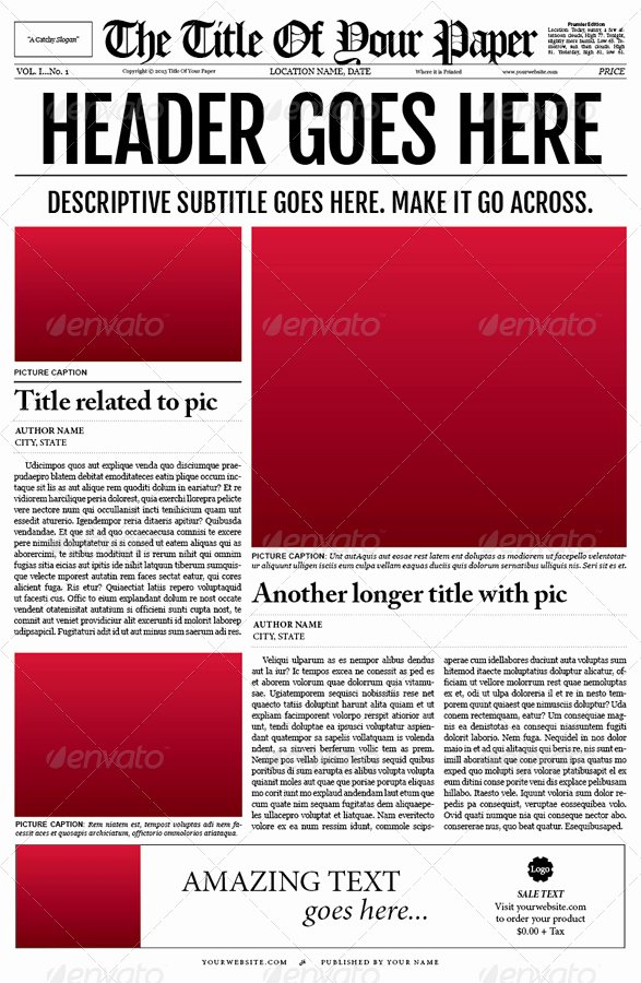Newspaper Template Indesign Free Fresh Old Style Newspaper Template by Tedfull