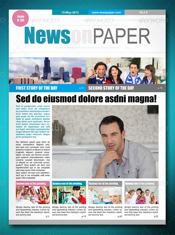 Newspaper Template Indesign Free Inspirational 13 Newspaper Layout Templates & Psd Designs
