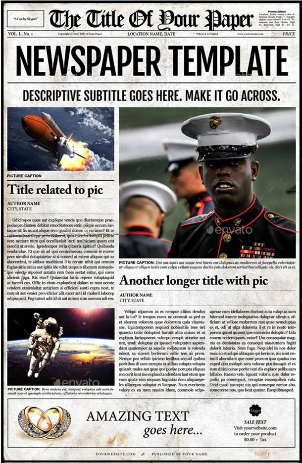 Newspaper Template Indesign Free Lovely 44 Amazing Newspaper Templates Available In Psd
