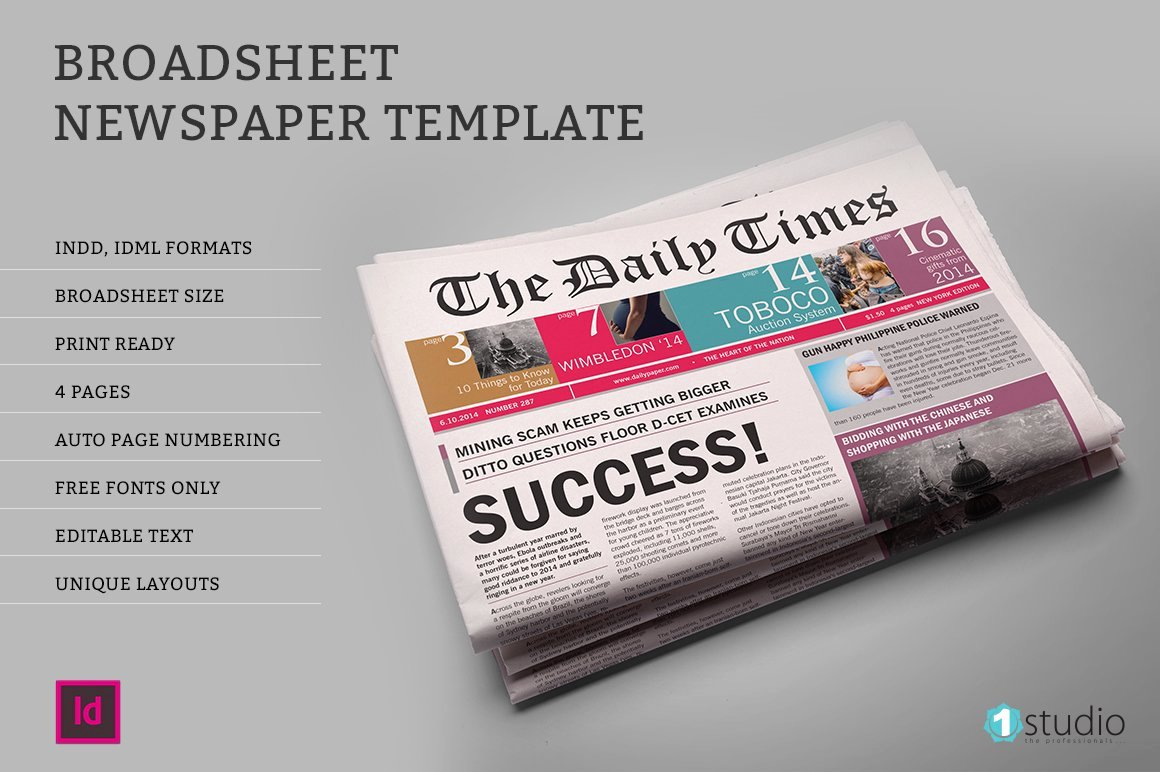 Newspaper Template Indesign Free Lovely Dailytimes Newspaper Template Magazine Templates On