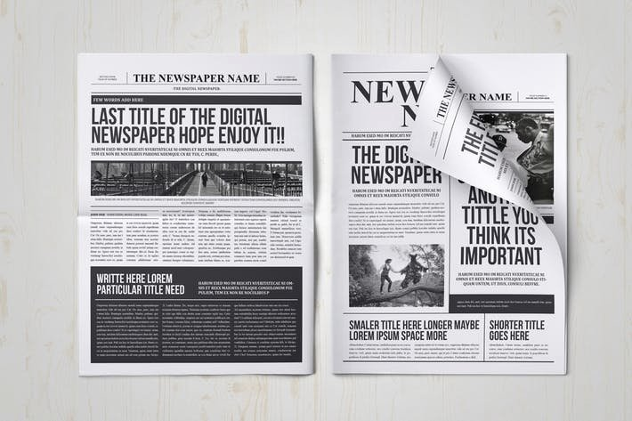 Newspaper Template Indesign Free Luxury Classy Newspaper Indesign Template by Luuqas On Envato