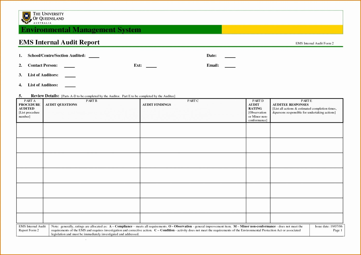 non conformance report template unique quality non conformance non conformance report template excel
