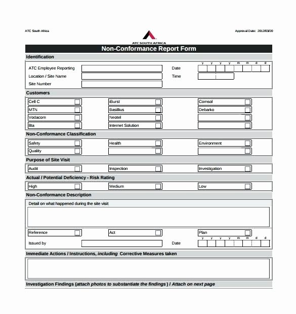 Non Conformance Report Template Best Of Pliance Report Template Download by Ncr Cd Label Word