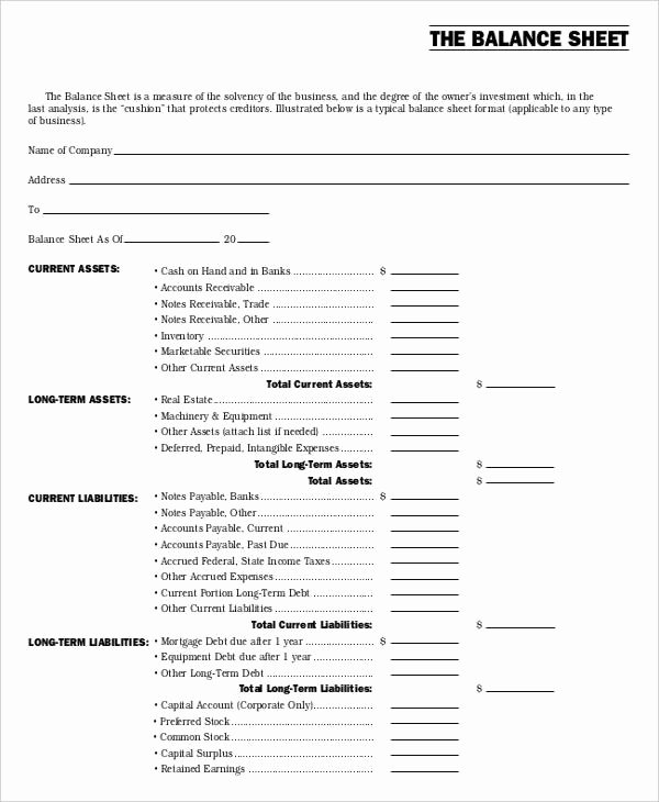 Non Profit Balance Sheet Template Beautiful Non Profit Sheet Templates 6 Free Word Pdf format