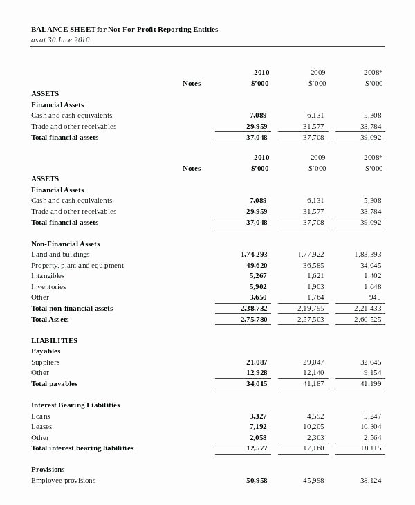 Non Profit Balance Sheet Template Elegant Profit and Loss and Balance Sheet format In Excel