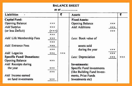 Non Profit Balance Sheet Template New 9 10 Non Profit Balance Sheet Template