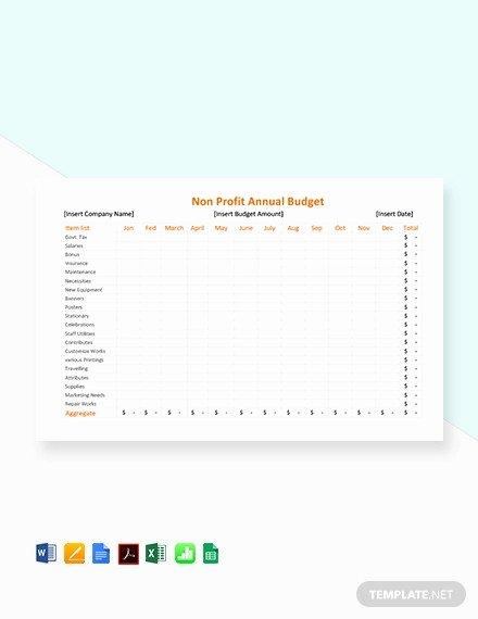 Non Profit Budget Template Inspirational 10 Nonprofit Bud Templates Word Pdf Excel